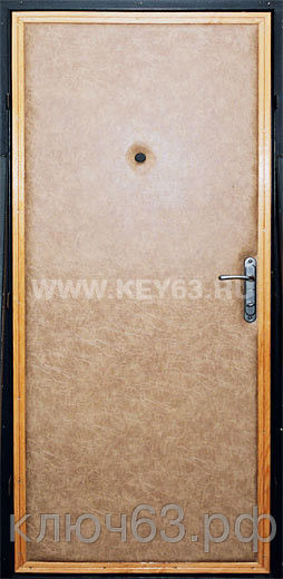 Стальная дверь сварная, лист 2 мм (возможен лист толщиной 3 мм), изнутри пенопласт, отделка Коже заменитель на паралоне 20 мм (предлагаем 20 цветов на выбор), рама угол 50х50х5 мм, дверные ребра изготовлены из стального уголка 40 мм, размер двери под ваш проем, устанавливаются петли диаметром 22 мм (25мм), замок сейфовый с ночником, с ручками (ручки медь, серебро, хром, золото), глазок по желанию, покраска эмалью НЦ 132 светло-серая, темно-серая, черная, коричневая (возможна покраска молотковой эмалью серая коричневая, черная, синяя, зеленая, красная) одноконтурный уплотнитель, возможна установка любых ВРЕЗНЫХ замков по желанию заказчика, установка 2 уплотнителя, усиление рамы, усиление дверных ребер жесткости, противосъемные штыри, порошковая покраска, усиленные петли, установка доводчика, магнитные замки.