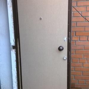 Стальная дверьмолотковая, лист 2 мм (возможен лист толщиной 3 мм, 4 мм), изнутри пенопласт (возможен плотный базальт), внутренняя отделка МДФ 6мм штрихлак (возможны другие варианты внутренней отделки), рама угол 50мм, дверные ребра изготовлены из стального уголка 40 мм, размер рамы двери 0,8м х 2,0м (возможны любые размеры), устанавливаются петли диаметром 25 мм, замки ЭЛЬБОР 1-03-03 5 ключей и 1-04-04,ручка медный шар, глазок АПЕКС обзор 160 градусов, покраска молотковой эмалью коричневая (возможна серая, черная, красная, синяя, зеленая) одноконтурный уплотнитель, возможна врезка любых других замков по желанию заказчика, противосъемные штыри, установка 2 уплотнителя, усиление рамы, усиление дверных ребер жесткости, порошковая покраска, усиленные петли 3 шт, установка доводчика, магнитные замки.