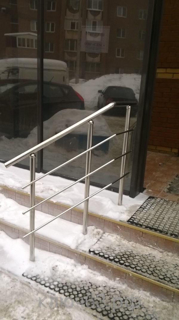 Ограждения из нержавеющей стали для лестницы